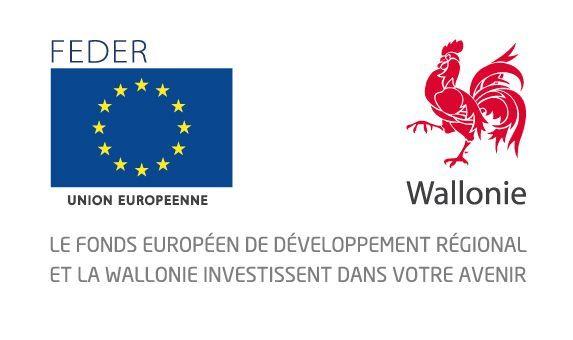 logo FEDER et Wallonie